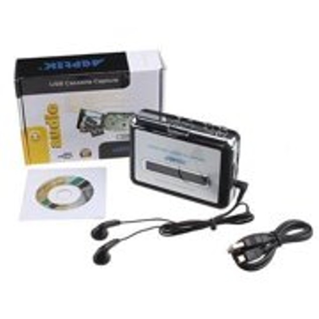 Portable USB Handheld Tape to PC Tape-to-MP3 Player Converter Capture