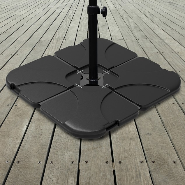 Umbrella Stand  220 Lb. Capacity, 4-Piece Fillable  Offset Umbrella Base