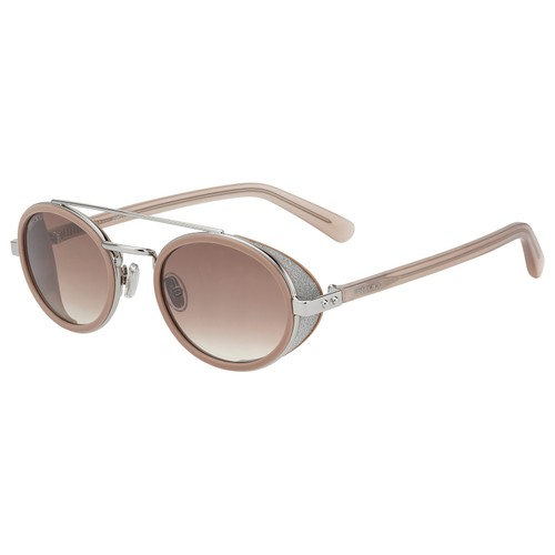 Jimmy Choo Womans Sunglasses JCHTONIES 0TJV Pink Silver Roun/Oval Gradient/Mirror