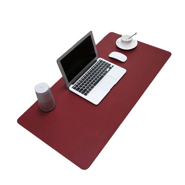 Microfiber Leather Pad Desk mat For Protection of Tabletop Surface Red