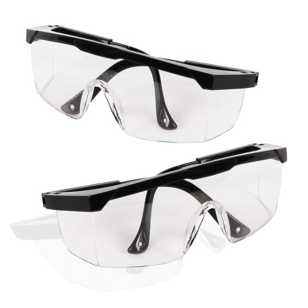 2-Pack Adjustable Anti-fog Protective  Eyewear Safety Goggles Glasses