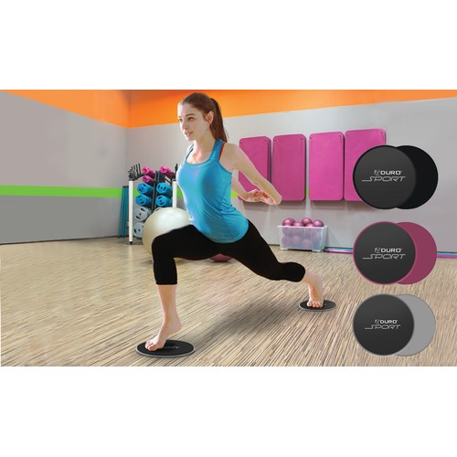 Aduro Sport Dual-Sided Exercise Gliding Discs
