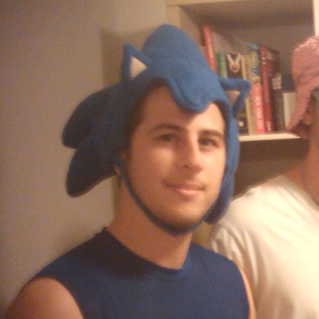 Sonic The Hedgehog Costume Headpiece Fleece Hat Cap Accessory Cosplay Adult