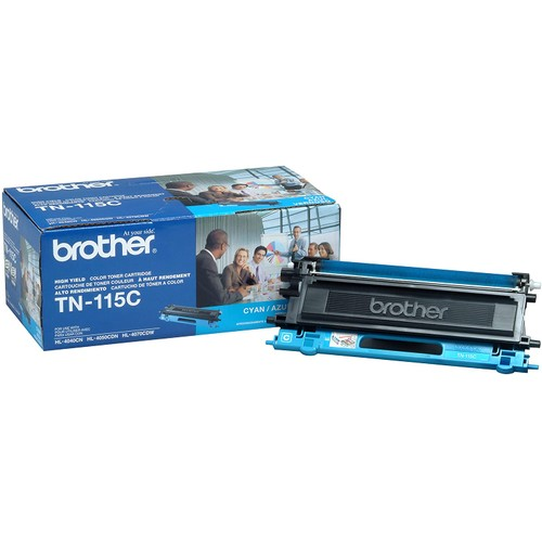 Brothers Brother TN-115C DCP-9040 9042 9045 HL-4040 4050 4070 Toner Cartridge (Cyan) in Retail Packaging