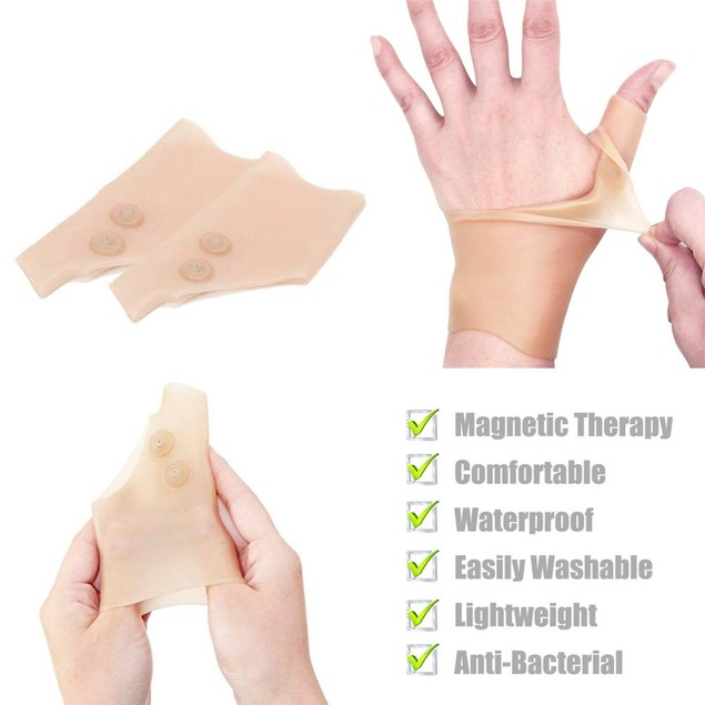2 PCS Silicone Gel Thumb Wrist Gloves Hand Support Arthritis Joint Pain