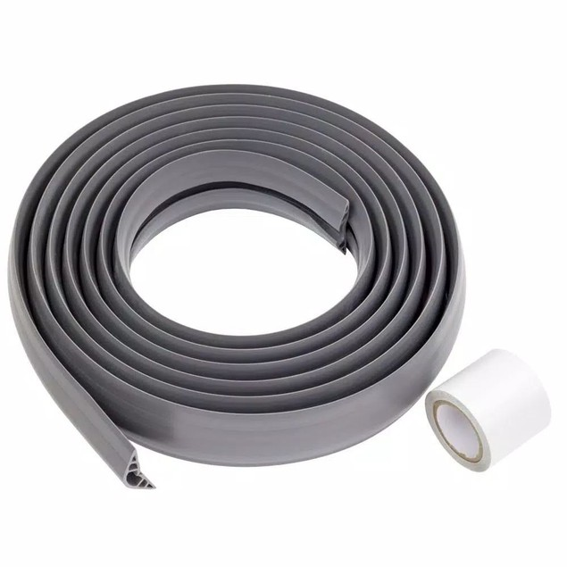 15 Foot PVC Floor Cord Protector by Commercial Electric, Holds 1-2 Cables,
