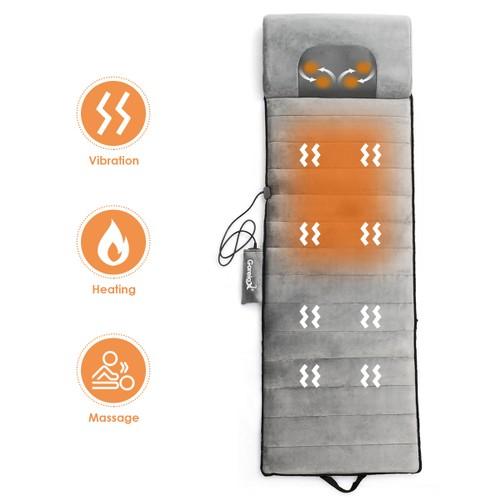 Foldable Full Body Massage Mat Heated Neck Massager w/ 5 vibration modes