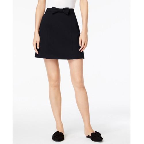 Maison Jules Women's Bowtie Skirt Deep Black Size Extra Large