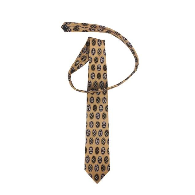 Bill Lumbergh Patterned Tan Necktie