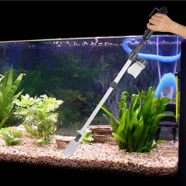 Battery-Operated Aquarium Vacuum Gravel Cleaner Water Changer