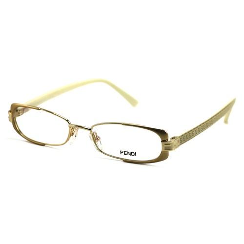 Fendi Women's Eyeglasses F943 714 Gold/Beige 49 16 135 Full Rim Oval