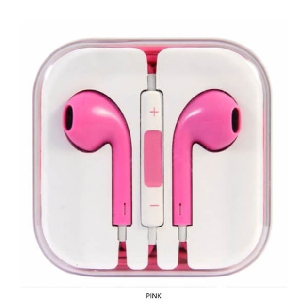 Ergonomic Earbuds with Inline Remote & Built-in Mic - Assorted Colors