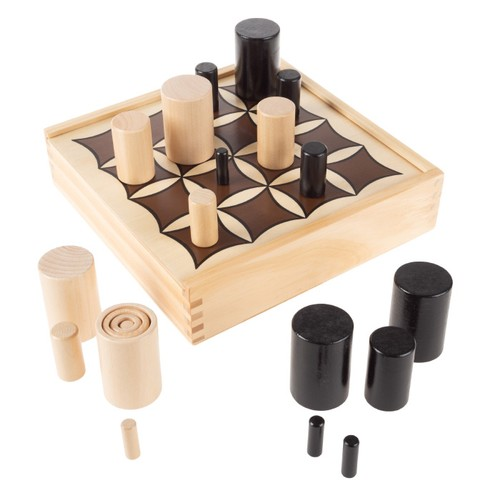 3D Tic Tac Toe  Wooden Tabletop Competitive Hands-On Strategy