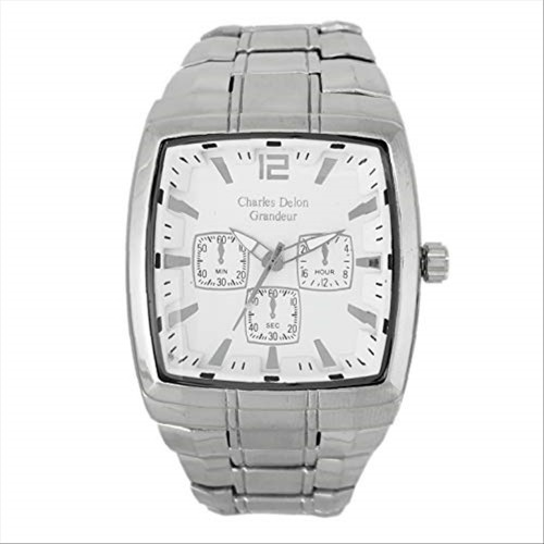 Charles Delon Men's Watches 5150 GPWS Silver/Silver Stainless Steel Quartz Square