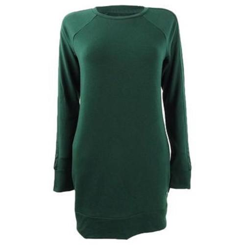 Ideology Women's Long Sleeve Tunic Dark Green Size Extra Small