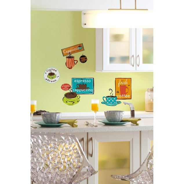 Roommates Nursery Baby Room Wall Decorative Cafe Wall Decals