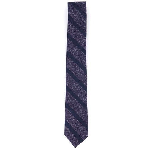 Bar III Men's Hayden Stripe Tie Purple Size Regular