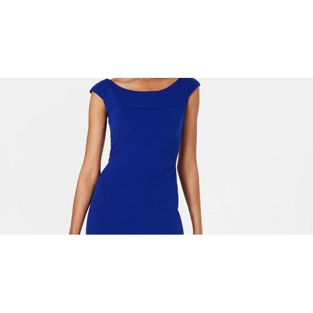 Connected Women's Wide-Leg Jumpsuit Med Blue Size 14