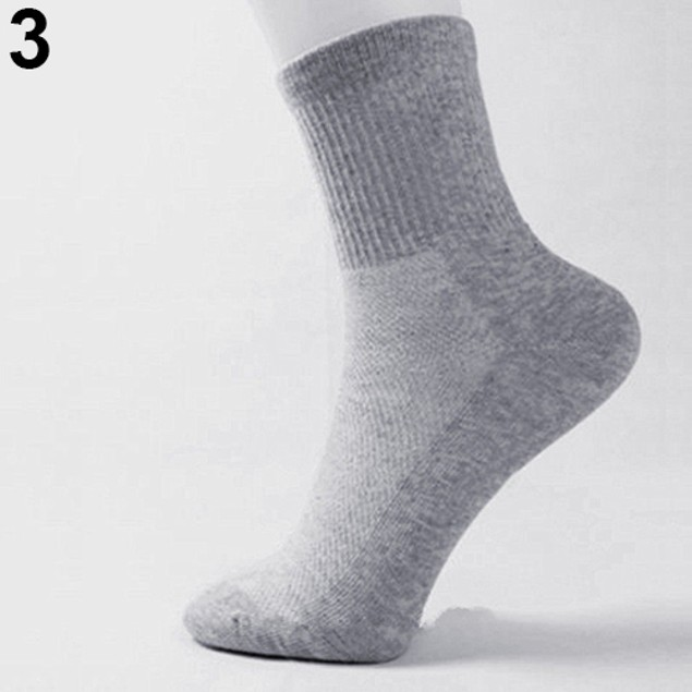 5 Pairs Men's Fashion Casual Warm Cotton Sport Breathable Socks