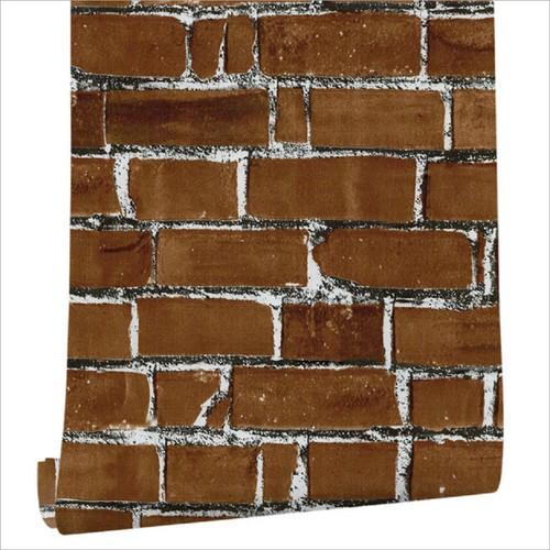 "Brick Stone Decorative Self-Adhesive Film Peel & Stick Wallpaper Wall Panel Removable Home Decoration 17.7"" x 236"""