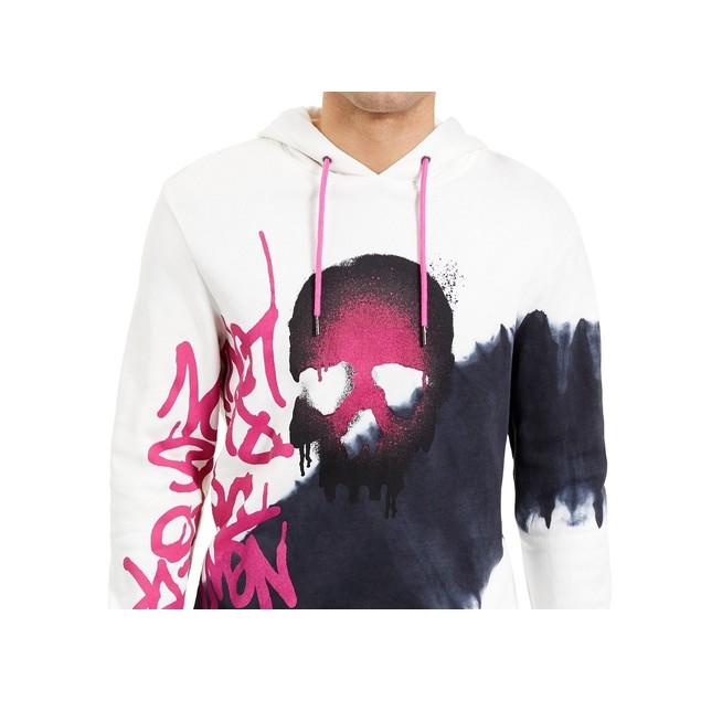 INC International Concepts Men's Graffiti Skull Hoodie Black Size X-Large