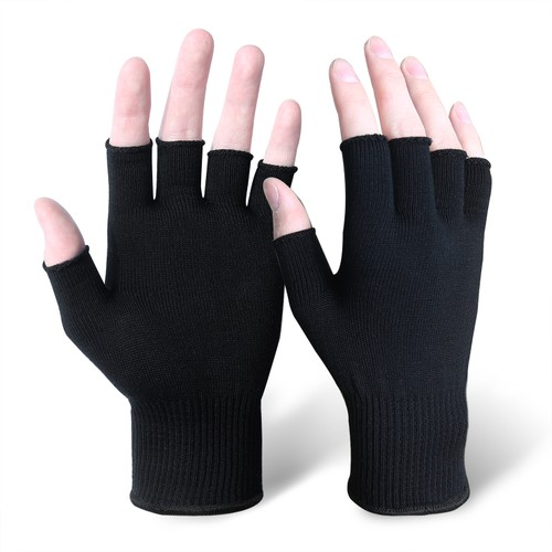 EvridWear Silk Knit Half-finger Gloves ECO-Friend Liner Anti-UV