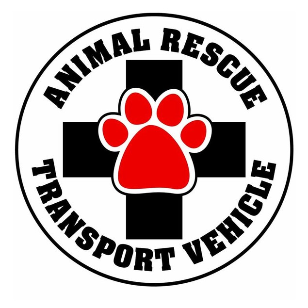 Animal Rescue Transport Vehicle Magnet