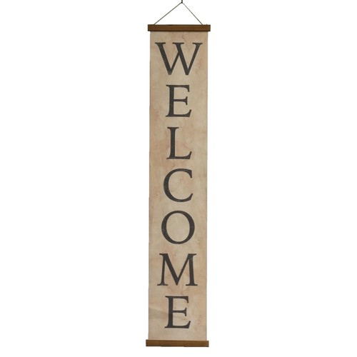 Home Decorative Canvas Welcome Banner - Multicolored