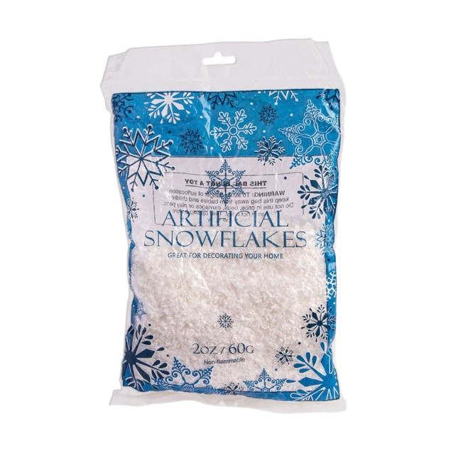 Fake Snow Artificial Snowflakes 2 Oz. Bag