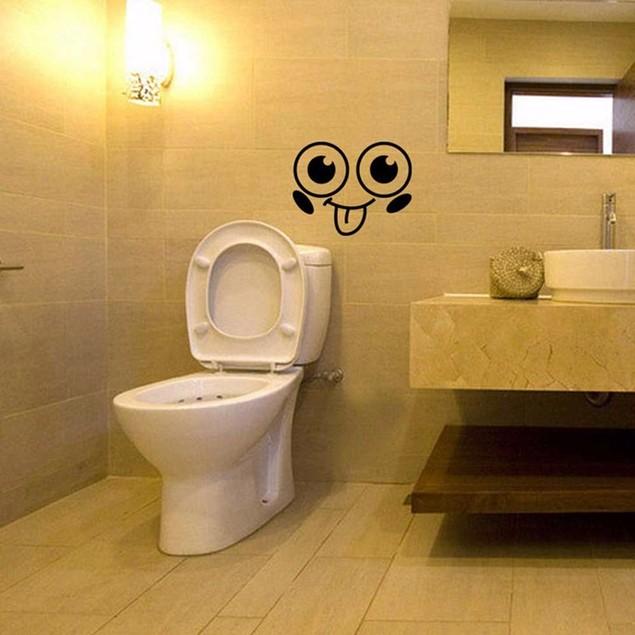 Smile Face Toilet Stickers DIY Furniture Decoration