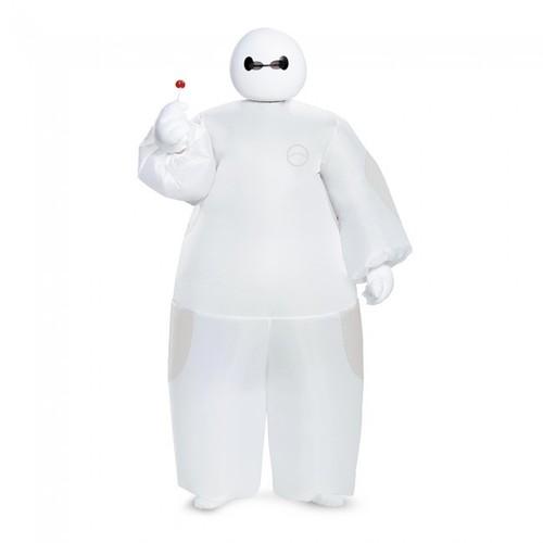 White Baymax Inflatable Child Costume Big Hero 6 Disney Movie Blow Up Mask