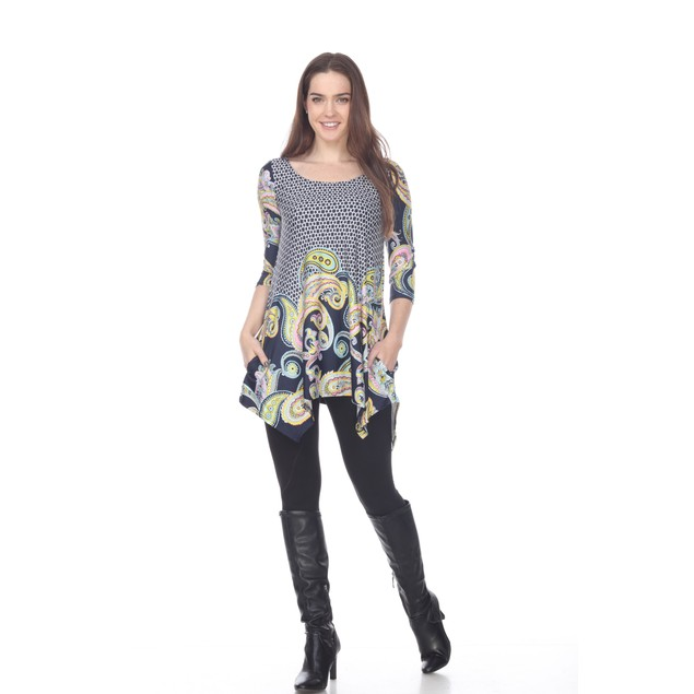 Teagan Printed Tunic Top - 1 Color - Extended Sizes