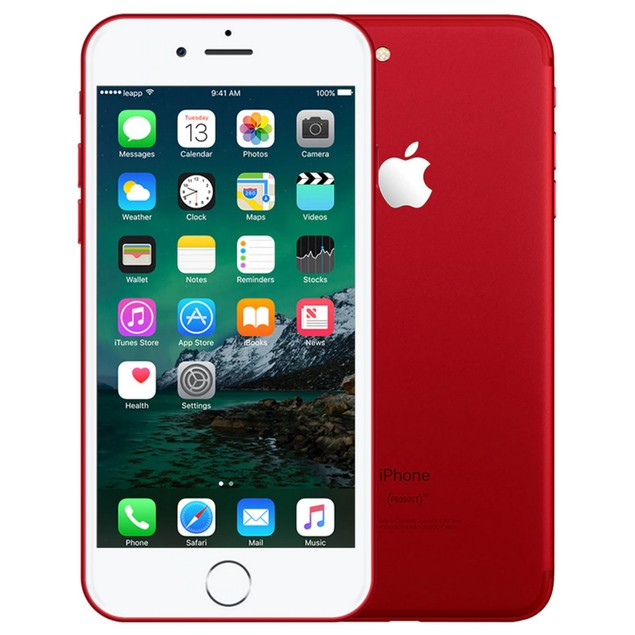 Apple iPhone 7 Plus, T-Mobile, Red, 32 GB, 5.5 in Screen
