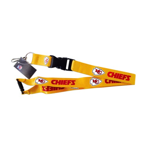 Kansas City Chiefs NFL Clip Lanyard Keychain Id Ticket Holder - Yellow