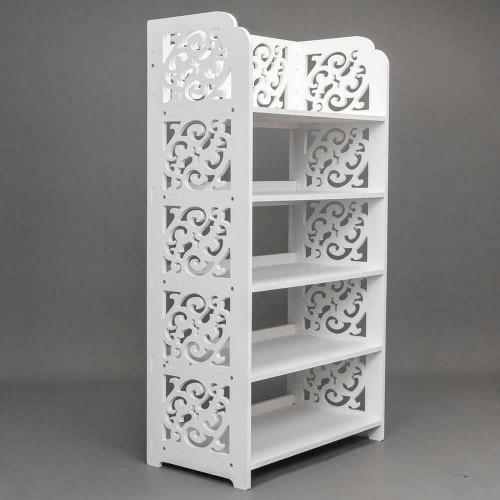 5 Tier Heavy Duty Storage Bookcase Organizer Standing Shoe Rack Shelf