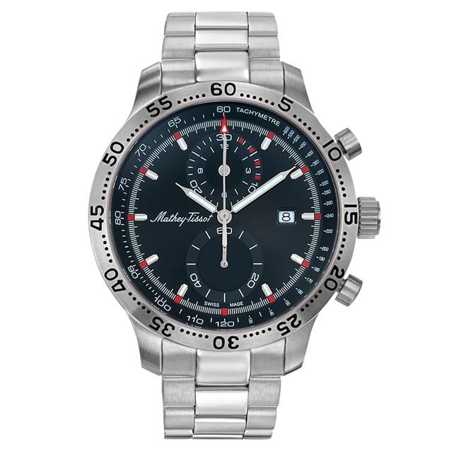 Mathey Tissot Men's Type 23 Chrono Quartz Black Dial Watch - H1823CHAN