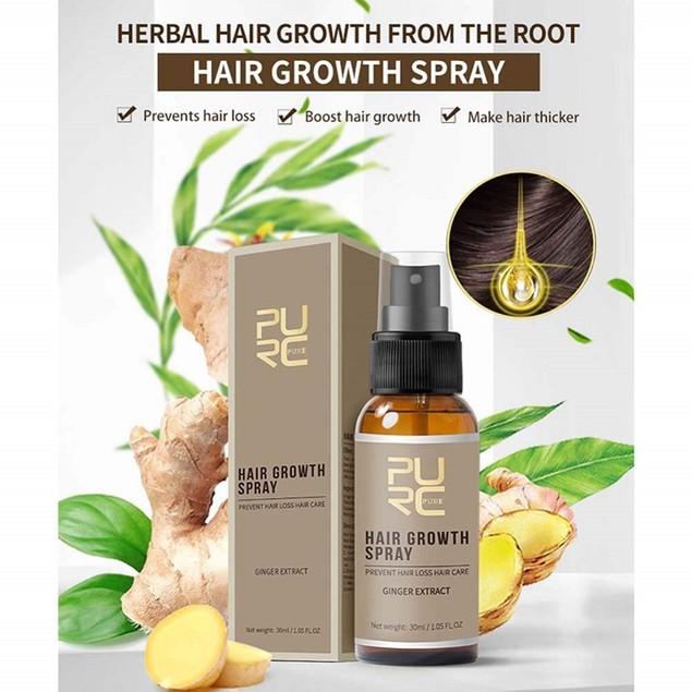 Natural Ginger Extract Hair Growth Spray Hair Loss Treatment Serum 20ml