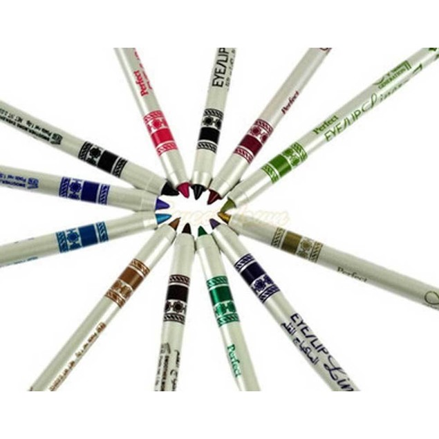 12 Color Glitter Eyeshadow Lip EyeLiner Eye Shadow Pencil Shimmer