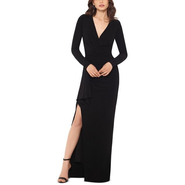 Xscape Women's V-Neck Gown Black Size 6