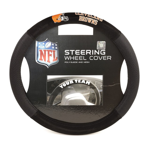 Cleveland Browns Steering Wheel Cover NFL Football Team Logo Poly Mesh