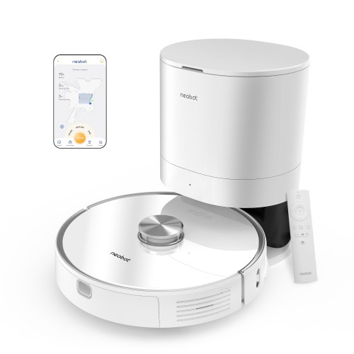 Neabot Robot Vacuum with Self-Emptying Dustbin Included