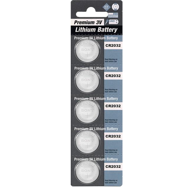 Premium Battery CR2032 3-Volt Lithium Coin Cell Batteries (5 Batteries)