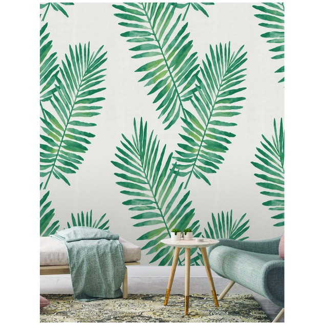 """93024 Contact Paper Tropical Palm Peel and Stick Wallpaper 17.7""""x 19.7ft"""