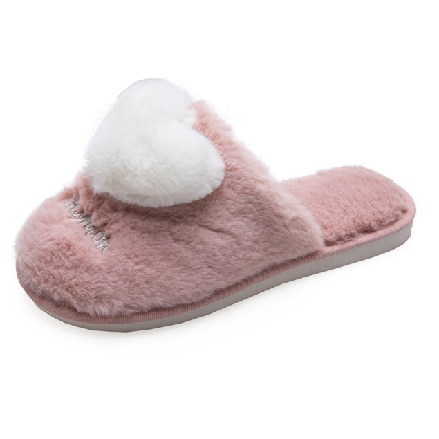 Women's Baotou Home Warm And Velvet Love Slippers