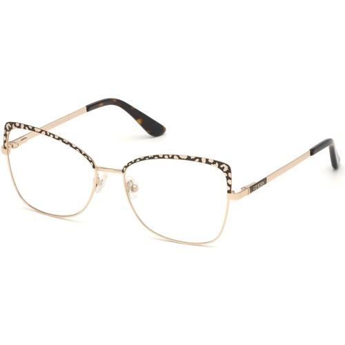 Guess Women Eyeglasses GU2716V 050 Brown 56 16 140 Frames Butterfly