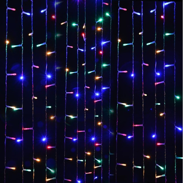 19.6X9.8FT 600 LED WATERPROOF STRING FAIRY CURTAIN LIGHTS WINDOW WEDDING