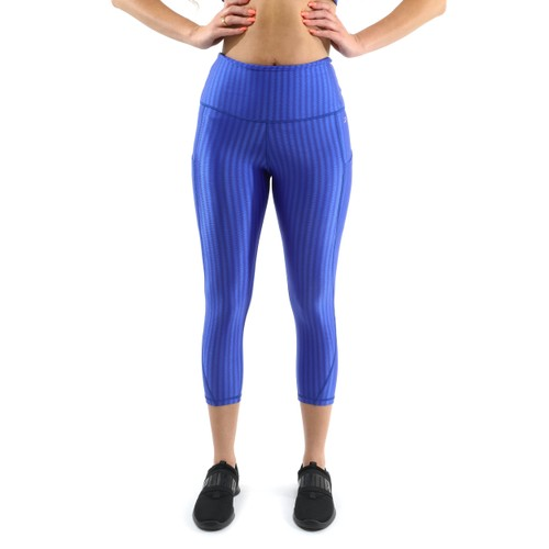 Firenze Activewear Capri Leggings - Blue [MADE IN ITALY] - Size Small