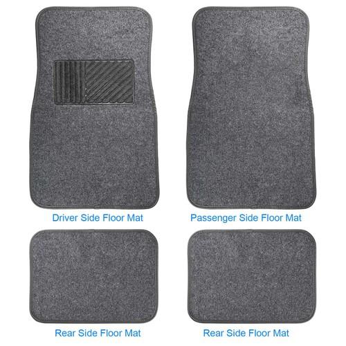 4Pcs Universal Car Floor Mat Front Rear Vehicle Floor Carpet Set