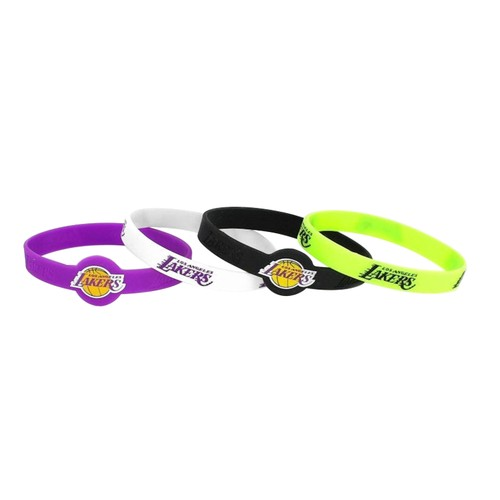 NBA LA Los Angeles Lakers Silicone Bracelet 4 Pack
