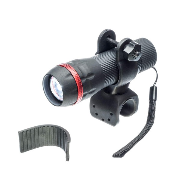 Bicycle Adjustable Focus Headlight and Rotating Clamp